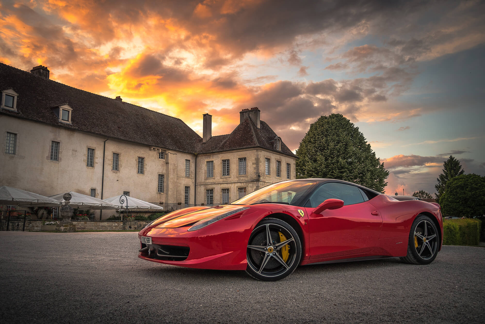 Alquiler de Ferrari para bodas